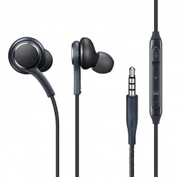 Music Aux Wired in-Ear Headphones Earphones with Mic and Volume Control for 3.5mm Jack Mobile Devices