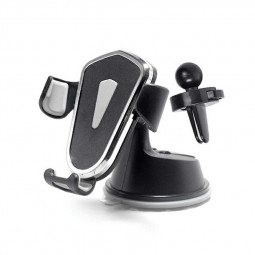 Gravity Cellphone Bracket Suction Mount Universal Phone Stand Holder for Car Air Conditioning Outlet Dashboard - Grey