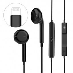 iPhone 8pin Bluetooth Wird Headphones Earphones for iPhone 7/7P/X/8/8P - Black