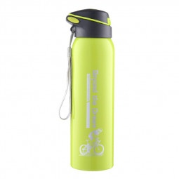 500ML Sports Thermos Water Bottle with Straw Double Wall Vacuum Insulated Stainless Steel Thermos - Green