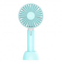 Summer Handheld Fan Portable Mini Fan USB Desktop Fan for Home Outdoor and Office - Blue