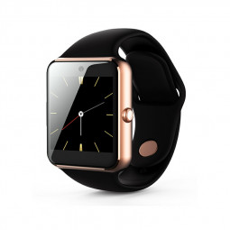 Q7SP Smart Watch Sport Bracelet Fitness Tracker IPS Calories Sleep Monitor Call Reminder Wrist Band - Black+Gold