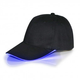 Black Baseball Cap Light Up Hat Sports Travel Party Club Cap with LED Light Brim - Blue