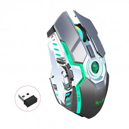 ZERODATE-T30 2.4GHz Wireless 4-Keys 1600 DPI Adjustable Ergonomics Optical Vertical Mouse RGB Glowing Mouse