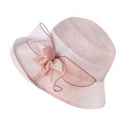 Womens Girls Bucket Hats Wide Brim UV Protection Floppy Foldable Flower Sun Hat - Pink