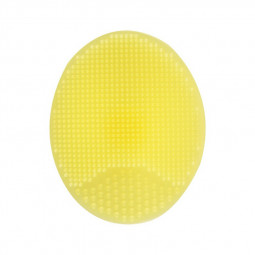 Facial Deep Cleansing Brush Soft Silicone Manual Cleaning Exfoliating Face Tool - Yellow