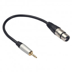 TC210KF183 XLR 3pin Female to 3.5mm 1/8 inch TRS Male Metal Connector Audio Adapter Cable - 0.3m