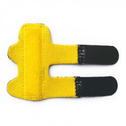 Finger Splint Mallet Trigger Support Brace Joint Protection Straightener Strap - Yellow