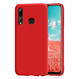 Shockproof Back Cover Matte Soft TPU Slim Case for Huawei P SMART Plus 2019 - Red