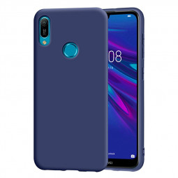 Matte Shockproof Back Cover Soft TPU Slim Phone Case for Huawei Y6 2019 - Blue