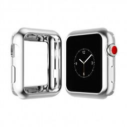 42mm Soft TPU Protective iWatch Case Full Protection Cover for Apple Watch Series 2/3 - Silver