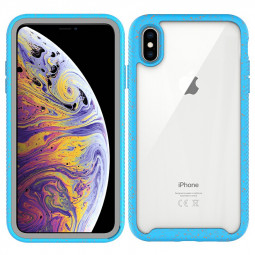 Hybrid Hard Rugged TPU Case Cover Shockproof Phone Case for iPhone XS Max - Light Blue