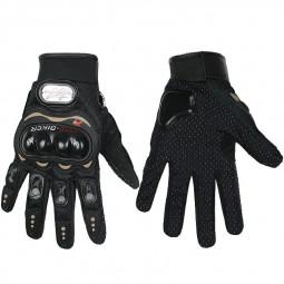 Men Thermal Waterproof Motorbike Motorcycle Gloves Carbon Knuckle Protection Gloves - Black/M