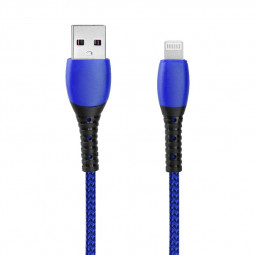 Nylon Braided 8pin Charging Cable Data Line Charger Cables 1m - Blue