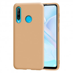 Soft TPU Case Cover Silicone Back Case Matte Phone Cover for Huawei P30 Lite - Brown