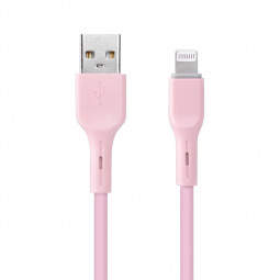 Candy Colour iPhone 8pin Cable Soft 8 Pin Charging Cable 1m - Pink