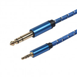 3.5mm Male to 6.5mm Male Stereo Amplifier Guitar TV computer CD Player VCD DVD MP3 Audio Cable - 3m