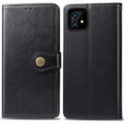PU Leather Wallet Case iPhone Cover with Magnet Card Holder Flip Stand Cellphone Cover for iPhone 11 - Black