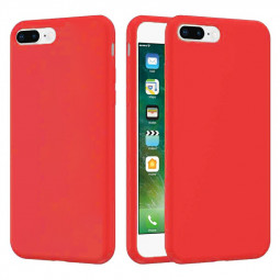 Soft Silicone Gel Shockproof Cover Case Smooth Anti Fingerprint Scratch Resistant Back Cover for iPhone 7/8 Plus - Red