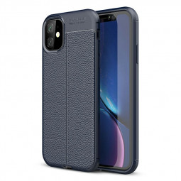 Non-slip Graininess Phone Case Slim Back Case Silicone TPU Bumper Case Soft Protective Phone Case for iPhone 11 - Navy