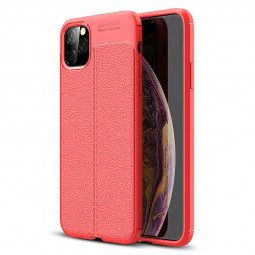 Thin Back Case Grainy Soft Silicone Phone Case TPU Bumper Protective Case for iPhone 11 Pro Max - Red