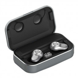 A6L TWS Wireless BT 5.0 Earphone Stereo Sport Earbuds Sweatproof Headset with Charging Box Built-in Microphone - Silver