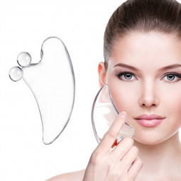 Crystal Gua Sha Facial and Body Tools Best Scraping Massage Tools Facial Board Guasha Cure Acrylic Resin Massager - Upgrade Version