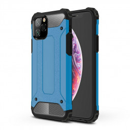 Rugged Armor TPU + PC Combination Phone Case Shockproof Hard Metal Back Case for iPhone 11 Pro - Blue