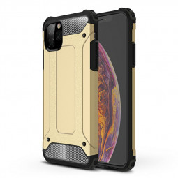 Shockproof Hard Back Case Rugged Armor TPU + PC Combination Case for iPhone 11 Pro Max - Gold