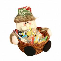 Merry Christmas Product Candy Storage Basket Decorations Santa Claus Snow Man Deer Xmas Storage Baskets - Santa Claus