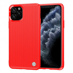 Ultra Slim Fitted Case Creative Striped Back Cover Soft TPU Phone Case for iPhone 11 Pro Max - Red