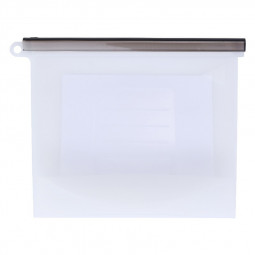 1500ml Kitchen Reusable Silicone Food Storage Bag Fresh-keeping Sealed Bag Eco Friendly Reusable Bag - Clear