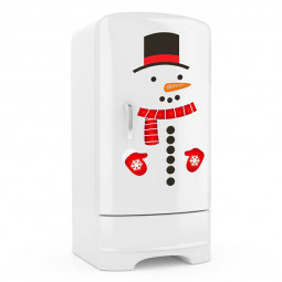 Removable Snowman Fridge Door Decor Christmas Sticker Decal Novelty Funny Sticker Creative Xmas Window Glass Sticker