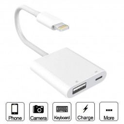 USB Camera Adapter USB 3.0 Female OTG Adapter Cable with USB Power Interface Data Sync Charging Cable