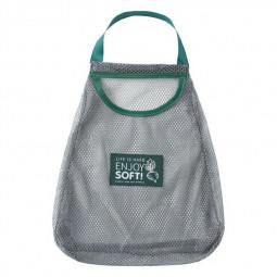 Hollow Breathable Fruit Vegetable Ginger Garlic Storage Mesh Drawstring Bag Wall-Mounted Kitchen Household Hanging Bag