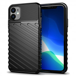 Shockproof Anti-drops Phone Case Soft Silicone Ultra Slim Mobile Phone Back Cover for iPhone 11 - Black