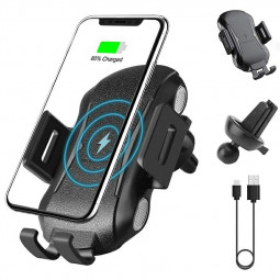 2 in 1 C20 Touch Sensing Car Wireless Qi Charger 10W 5W Charging Stand Module Air Vent Mount