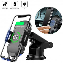 C20 Qi Wireless Fast Car Charger Mount Holder for Car Air Vent Fit for 4.0 - 6.5 inches Mobile Phone