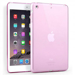 Simple Clear TPU Soft Tablet Case Protective Back Cover for iPad Mini 1 / 2 / 3 - Pink