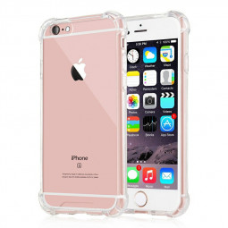 Bumper Cover Phone Cover Shockproof Silicone Transparent Back Case for iPhone 6/6s - Clear