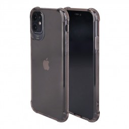 Bumper Cover Phone Cover Shockproof Silicone Transparent Back Case for iPhone 11 - Black