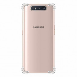 Soft TPU Silicon Bumper Slim Transparent Phone Back Cover Protective Skin Case for Samsung Galaxy A80