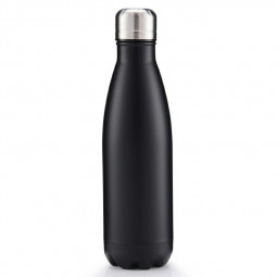 500ml Double Wall Stainless Steel Water Thermos Vacuum Insulated Water Bottle - Matte Black