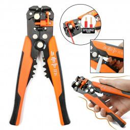 Self Adjustable Automatic Cable Wire Stripper Cutter Crimper Crimping Plier Tool - Orange
