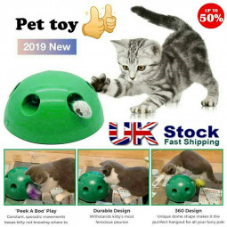 Pop N Play Interactive Cat Toy Motion Cat Toy Mouse Tease Toy Electronic Pet Toy - Green