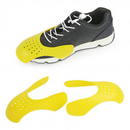 Reusable Anti Crease Sneaker Shields Shoe Trainer Protector Toe Box Decreaser for Women UK 3-6.5 - Yellow