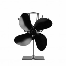 Stove Fan for Wood Burners Multi Fuel Gas Stoves Small 4 Blade Heat-powered Double-headed Fireplace Fan
