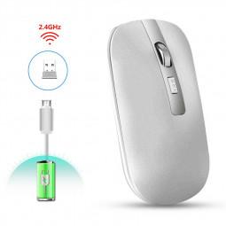 M30 2.4GHz Wireless 4-Keys Silent Adjustable DPI Ergonomics Optical Vertical Mouse - Silver
