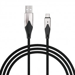 1m Braided Soft and Durable Micro USB Charging Cable Android Quick Charger Wire - Black