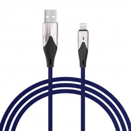 1m Braided Soft and Durable 8pin Charging Cable iPhone Quick Charger Wire - Blue